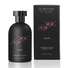 Духи с феромонами для женщин Lure Black Label For Her, 74 ml