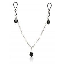 Украшение на соски Nonpiercing Nipple Chain Jewelry, оникс