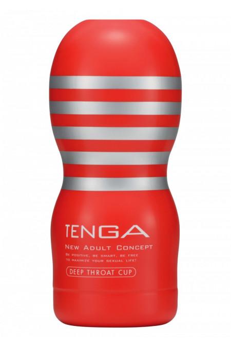 Tenga Deep Throat Cup - Мастурбатор-имитатор орального секса, 15х4,5 см (белый)