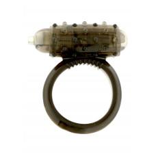 Эрекционное кольцо с вибрацией VIibrating Cockring Silicon, прозрачный
