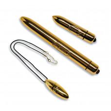 Вибронабор Rocks Off Feranti - Gold Bullet Collection (вибропулька на подвесе, вибратор, вибропуля)
