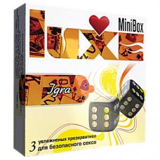 Luxe Mini Box Игра - 3 презерватива с разным рельефом