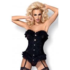 Эротический комплект Obsessive Baletti corset , Черный, S/M