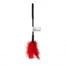 Метелочка-щекоталка Sex And Mischief - Feather Ticklers 7 inch Red, натуральные перья и пух