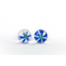 Вагинальные шарики TLC CyberGlass Ben Wa Balls, синий