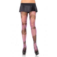 Leg Avenue LEG9928 - колготки с цветным узором, OS, (черный с розовым)