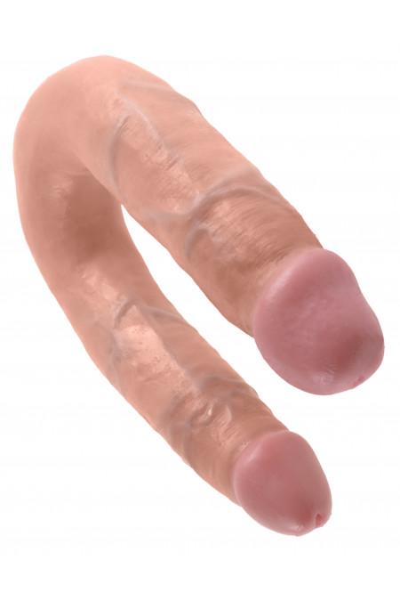 Pipedream Cock U-shape Double Trouble M - двойной фаллоимитатор, 34х3,3 см