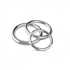 Набор металлических эрекционных колец Sinner Gear Unbendable - Cock/Ball Ring & Glans Ring Set
