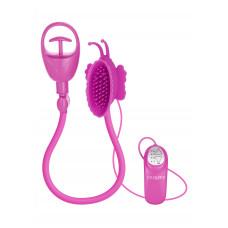 Вибропомпа для клитора Butterfly Clitoral Pump Pink, 11х6 см, розовый