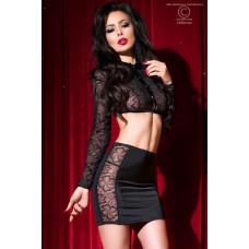 Сексуальный комплект топ и мини юбка Chilirose