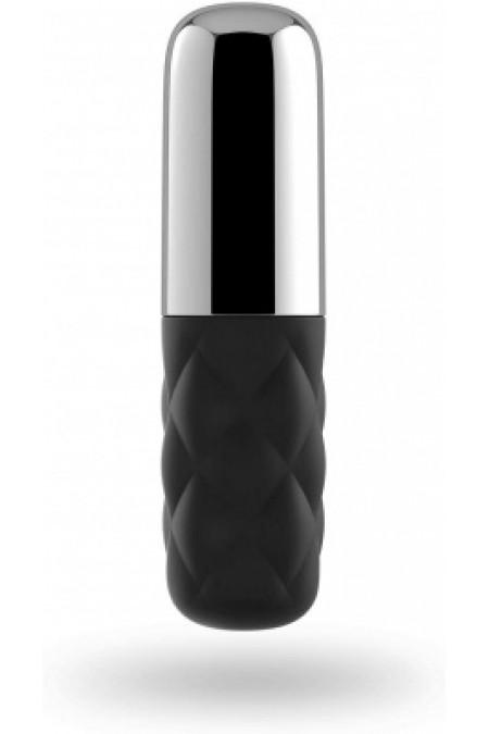 Satisfyer Mini Lovely Honey - мощный мини-вибратор (черный с серебром)