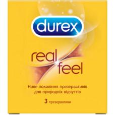 Durex №3 Realfeel - презервативы из синтетического латекса, 3 шт.