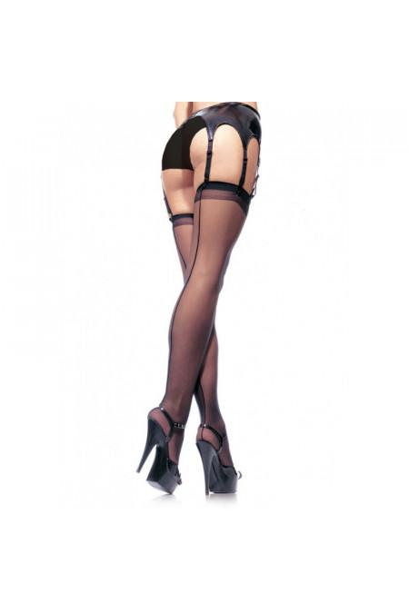 Leg Avenue Sheer Stockings - чулки со швом (телесный)