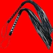 ABX972 - Плеть с красивым переплетом на ручке, 20х45см, (черный)