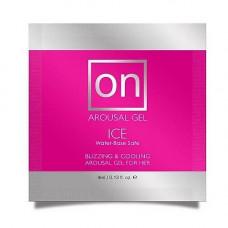 Пробник возбуждающего геля Sensuva - ON for Her Arousal Gel Ice (4 мл)