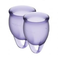 Набор менструальных чаш Satisfyer Feel Confident (lila), 15мл и 20мл, мешочек для хранения